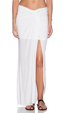 Young, Fabulous & Broke Kulani Maxi Skirt in Solid White