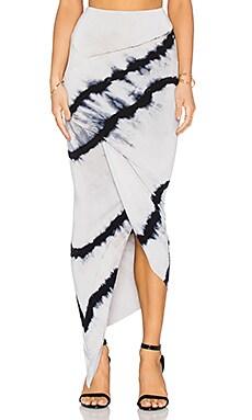 Young, Fabulous & Broke Sassy Skirt in Black Wavy Stripe