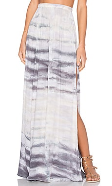 Young, Fabulous & Broke Noel Maxi Skirt in Charcoal Water Ripple Wash