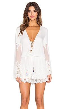 Young, Fabulous & Broke Kris Romper in White