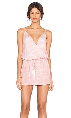 Young, Fabulous & Broke Monet Romper in Mauve Ripple Wash
