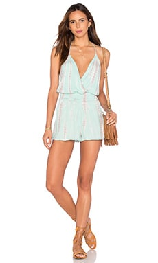 Hollie Romper in Seafoam Alligator Wash