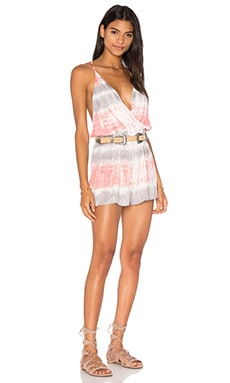 Young, Fabulous & Broke Hollie Romper in Melon Bamboo Wash