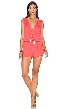 Young, Fabulous & Broke Vara Romper in Mango
