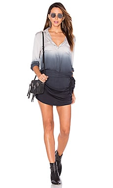 Jenah Romper in Black & Grey Ombre