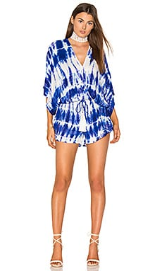 Ashley Romper in Indigo White Streak Wash