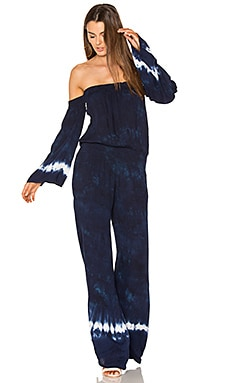 Estelle Jumpsuit in Indigo Border Wash