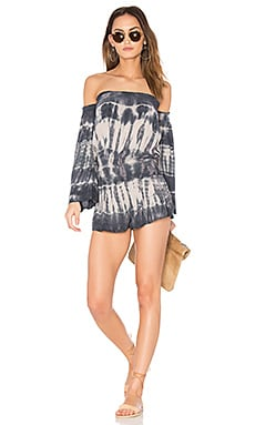 Estelle Romper in Charcoal Streak Wash
