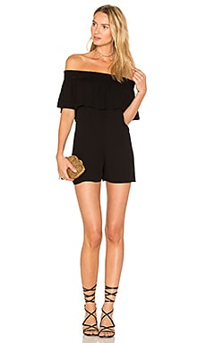 Jemima Romper in Black Solid