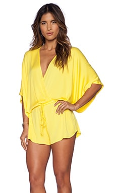 Young, Fabulous & Broke Maddie Romper in Solid Yellow