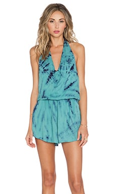 Young, Fabulous & Broke Lark Romper in Teal Dreamer