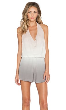 Young, Fabulous & Broke Lark Romper in Pink & Gray Ombre