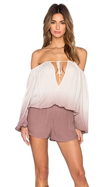 Young, Fabulous & Broke Bess Romper in Mocha Ombre