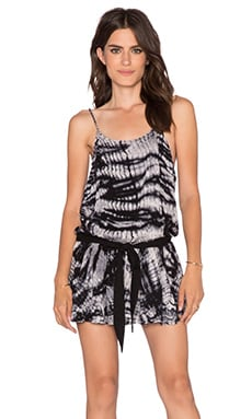 Young, Fabulous & Broke Perrin Romper in Black Alligator Wash