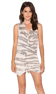Young, Fabulous & Broke Sinta Romper in Grey Alligator Wash