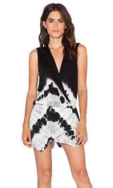 Young, Fabulous & Broke Sinta Romper in Black Chevron Stripe