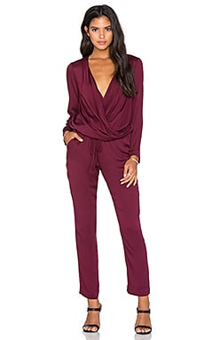 Young, Fabulous & Broke Zander Jumpsuit in Cranberry