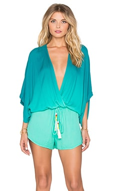 Young, Fabulous & Broke Ashley Romper in Caribe Ombre