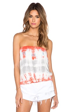 Reina Top in Coral Bamboo Wash