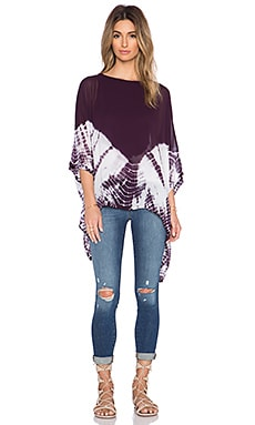 Young, Fabulous & Broke Jaylin Top in Plum Skeleton
