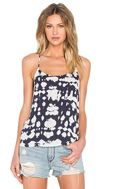 Shae Tank in Navy Crocodile Wash