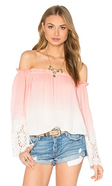 Young, Fabulous & Broke Lela Top in Melon Ombre