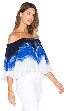 Artist Top in Cobalt Water Ripple Wash