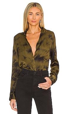Susan Satin Button Down Young, Fabulous & Broke $150
