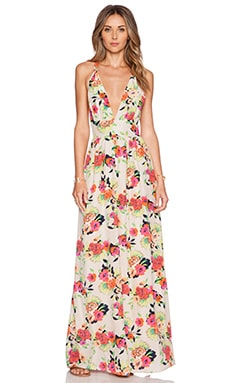 Enchanted Maxi Dress in Peonies Bloom