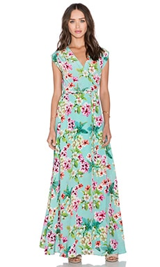 Yumi Kim Long Wrap Maxi Dress in Sweet Harmony