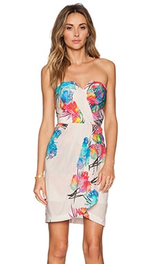 Yumi Kim Date Night Dress in Ivory Electric Reef
