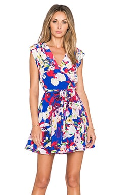 Yumi Kim Soho Mixer Dress in Blue Vermillion Bloom