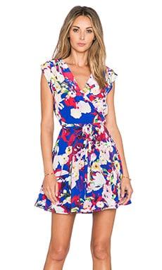 Yumi Kim Soho Mixer Dress in Blue Vermillion Bloom