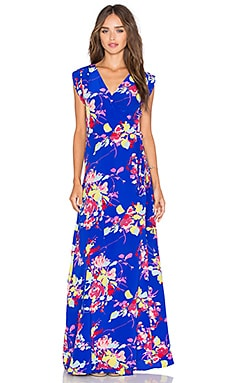 Swept Away Maxi Dress in Royal Blue Blossom