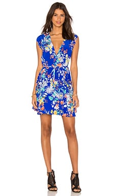 Yumi Kim Soho Mixer Dress in Royal Blue Enchanted Garden