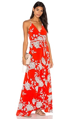Rush Hour Maxi Dress in Red Carnation