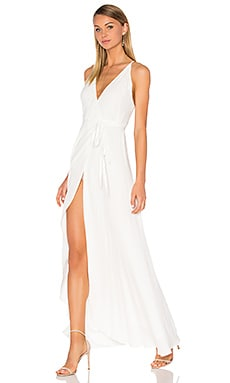 Rush Hour Maxi Dress in Solid White