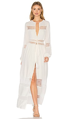 Dream Weaver Maxi Dress in All White
