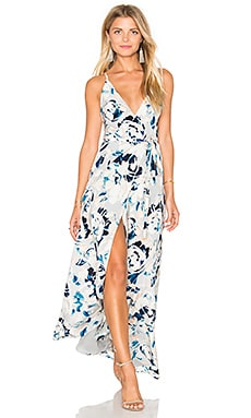 Rush Hour Maxi Dress in Blue Surfer
