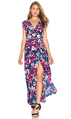 Swept Away Maxi Dress en Garden in Paradise
