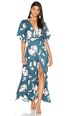 Kimono Maxi Dress in Blushing Daisy