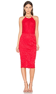 Save The Date Dress in Red Lace