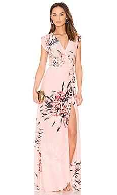 Swept Away Maxi Dress in Tropical Tonic