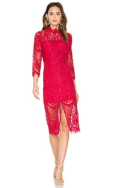 Leading Lady Dress Lace in Crimson