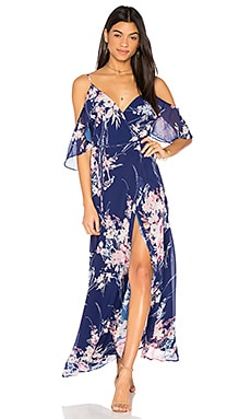 Endless Love Maxi Dress in Botanical Garden Navy