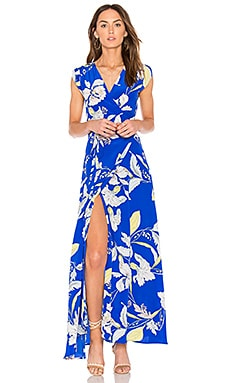 Swept Away Maxi Dress in Eastern Garden Royal Blue