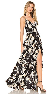 Kat Maxi Dress in Bay Breeze Black
