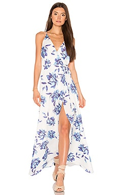Rush Hour Maxi Dress in Blue Bell
