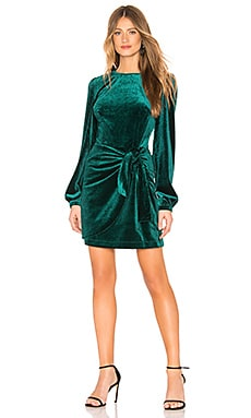 Tie Me Over Velvet Dress Yumi Kim $238