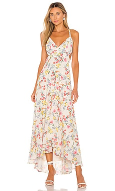 Open Back Lace Up Maxi Dress Yumi Kim $151
